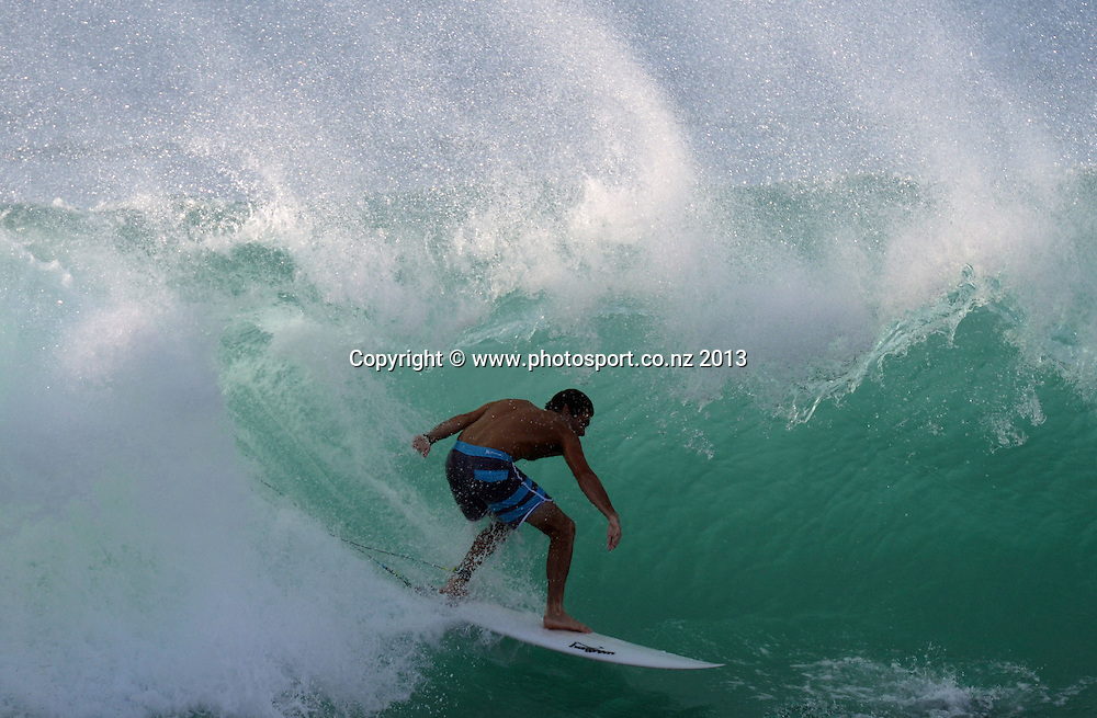 Surfing on the North Shore of Oahu, Hawaii. USA. Thursday 4 October 2013. Photo: Andrew Cornaga/www.photosport.co.nz