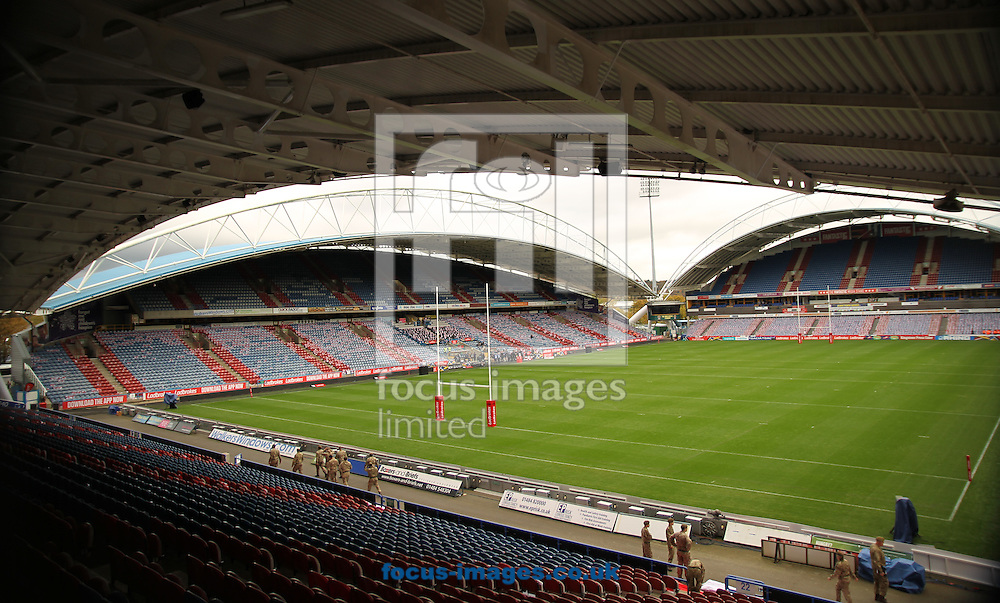 General Stadium view of the John Smiths Stadium  ahead of England vs New Zealand during the 2016 Ladbrokes Four Nations match at the John Smiths Stadium, Huddersfield<br /> Picture by Stephen Gaunt/Focus Images Ltd +447904 833202<br /> 29/10/2016