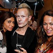 NLD/Amsterdam/20100901 - Glamour magazine bestaat 5 jaar, Olcay Gulsen, Bas Kosters  en Tessa koops