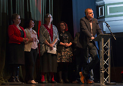 Pictured: Neil Finlay, MSP<br /> The Scottish Labour leadership candidate Richard Leonard visited Stirling tonight for a rally supported by  members from across the Labour and trades union movement includingMonica Lennon MSP, Neil Findlay MSP, Claudia Beamish MSP, Rhoda Grant MSP, Danielle Rowley MP, Hugh Gaffney MP, and comedian Susan Morrison<br /> <br /> Ger Harley | EEm 30 October 2017