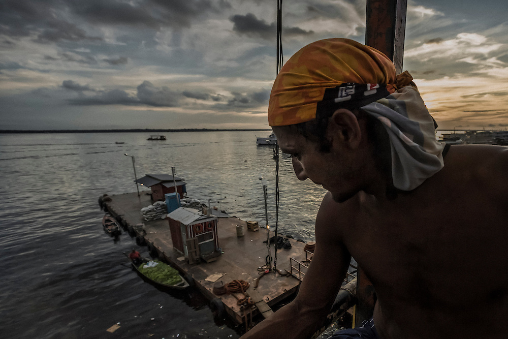 Brazil, Amazonas, rio Negro, Manaus. Docker.