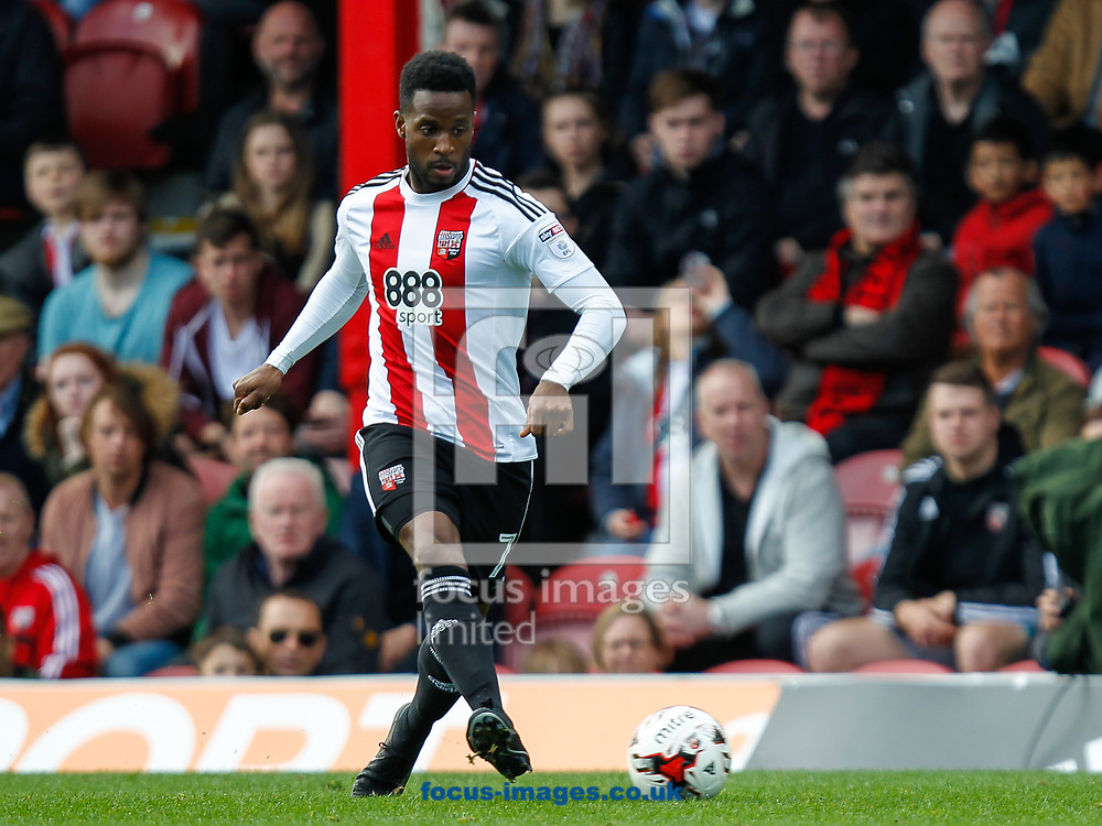 Florian Jozefzoon of Brentford during the Sky Bet Championship match between Brentford and Bristol City at Griffin Park, London<br /> Picture by Mark D Fuller/Focus Images Ltd +44 7774 216216<br /> 01/04/2017