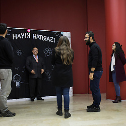 People take photos in front of a panel that reads &quot;Memory of No&quot; on February 27, 2017 during a meeting of groups supporting the No vote in Istanbul, Turkey.<br /> On April 16, 2017, Turkish citizens will vote on proposed changes on the constitution that could replace the current parliamentary government system with a presidential one.