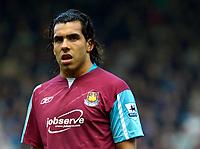 Photo: Ed Godden/Sportsbeat Images.<br /> West Ham United v Bolton Wanderers. The Barclays Premiership. 05/05/2007. West Ham's Carlos Tevez.