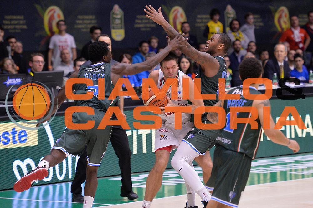 Dragic Zoran<br /> Olimpia EA7 Emporio Armani Milano vs Enel Brindisi<br /> LegaBasket Final Eight Coppa Italia Poste Mobile 2017<br /> Rimini 16/02/2017<br /> Foto Ciamillo-Castoria/ I.Mancini