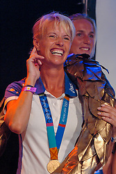 Anky van Grunsven during honoring of the gold and silver medal in the Holland Heineken House for Anky van Grunsven and Theo Bos on August 25, 2004 in Olympic Stadion Spyridon Louis, Athens.