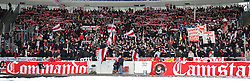 13.02.2010, Mercedes Benz Arena, Stuttgart, GER, 1. FBL, VfB Stuttgart vs Hamburger SV, im Bild die Kurve der Stuttgarter Anhaneger, EXPA Pictures © 2010 for Austria only, Photographer EXPA / NPH / Roth / Sportida.com