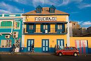 Colourful buildings in San Vincente. Mindelo. Cabo Verde. Africa.