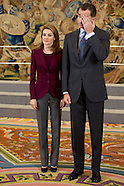 010914 Prince Felipe and Princess Letizia attend audience at Zarzuela Palace