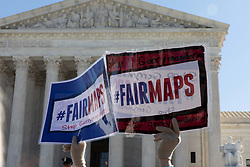 March 26, 2019 - Washington, D.C, United States - Organizations and individuals gathered outside the Supreme Court argue the manipulation of district lines is the manipulation of elections. ..The Supreme Court to hear gerrymandering cases Tuesday, March 26, 2019. (Credit Image: © Aurora Samperio/NurPhoto via ZUMA Press)
