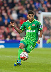 STOKE-ON-TRENT, ENGLAND - Saturday, April 30, 2016: Sunderland's DeAndre Yedlin in action against Stoke City during the FA Premier League match at the Britannia Stadium. (Pic by David Rawcliffe/Propaganda)
