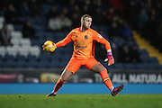 Blackburn Rovers goalkeeper, Jason Steele (1) during the EFL Sky Bet Championship match between Blackburn Rovers and Brighton and Hove Albion at Ewood Park, Blackburn, England on 13 December 2016.