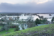 Widespread flooding on the Somerset Levels occurred during the winter of 2013/14, with closure of the A361 Glastonbury to Taunton road and many others.