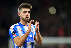 Tommy Smith of Huddersfield Town applauds the fans - Mandatory by-line: Matt McNulty/JMP - 17/02/2018 - FOOTBALL - The John Smith's Stadium - Huddersfield, England - Huddersfield Town v Manchester United - Emirates FA Cup Fifth Round