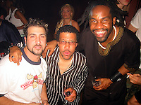 Joe Fatone, Lionel Richie, Unik at Candyland Weekly Party-2002 at Serafina Restaurant, New York.<br /> April 18, 2002.<br /> Photo by Celebrityvibe.com