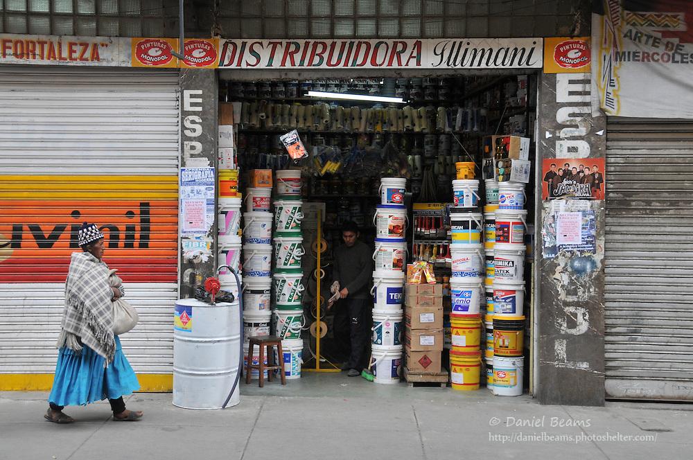 Street scene in La Paz, Bolivia