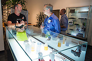 Greg Aper of Whipsaw, Inc. (left) and Steven Colby of Peters Verny, LLP., talk about Whipsaw products during the Silicon Valley Business Journal's HHaaS Tech Mixer at ZERO1 in San Jose, California, on May 28, 2015. (Stan Olszewski/SOSKIphoto for the Silicon Valley Business Journal)