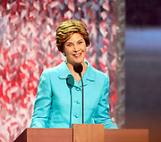 New York, NY, USA, August 31st 2004: US First Lady Laura Bush speaking at the Republican National Convention in New York.<br /> <br />   *** Local Caption ***