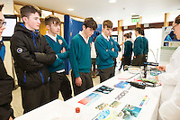 11/11/2015 Repro free:   More than 300 students visited the Marine Institute for Galway Science &amp; Technology Festival and the Sea for Society project. At the event were <br /> pupils from Colaiste na Coirbe. Photo:Andrew Downes, xposure.