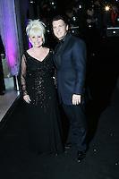 Barbara Windsor; Scott Mitchell, London Evening Standard Theatre Awards, The Savoy Hotel, London UK, 17 November 2013, Photo by Richard Goldschmidt