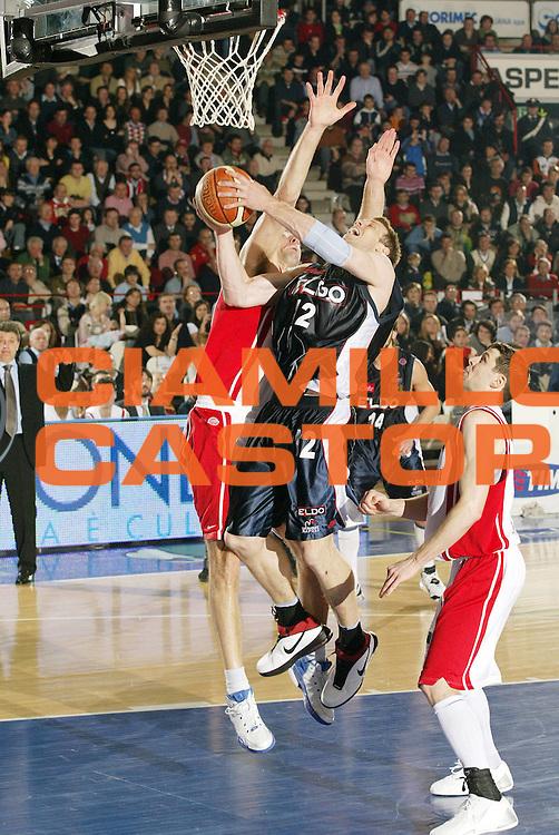DESCRIZIONE : Varese Lega A1 2006-07 Whirlpool Varese Eldo Napoli<br /> GIOCATORE : Mason Rocca<br /> SQUADRA : Eldo Napoli<br /> EVENTO : Campionato Lega A1 2006-2007 <br /> GARA : Whirlpool Varese Eldo Napoli<br /> DATA : 01/04/2007 <br /> CATEGORIA : Tiro<br /> SPORT : Pallacanestro <br /> AUTORE : Agenzia Ciamillo-Castoria/G.Cottini