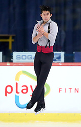 04.12.2015, Dom Sportova, Zagreb, CRO, ISU, Golden Spin of Zagreb, freies Programm, Herren, im Bild Liam Firus, Canada. // during the 48th Golden Spin of Zagreb 2015 men Free Program of ISU at the Dom Sportova in Zagreb, Croatia on 2015/12/04. EXPA Pictures © 2015, PhotoCredit: EXPA/ Pixsell/ Igor Kralj<br /> <br /> *****ATTENTION - for AUT, SLO, SUI, SWE, ITA, FRA only*****