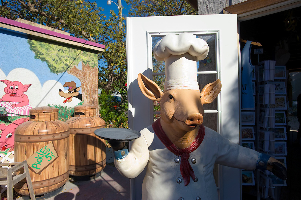 The Stuffed Pig Restaurant, Marathon, Florida Keys..Florida 2009..Foto © Stefan Falke.