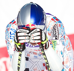 08.02.2011, Kandahar, Garmisch Partenkirchen, GER, FIS Alpin Ski WM 2011, GAP, Lady Super G, im Bild enttäuscht Lindsey VONN (USA) // Lindsey VONN (USA) looks dejected during Women Super G, Fis Alpine Ski World Championships in Garmisch Partenkirchen, Germany on 8/2/2011, 2011, EXPA Pictures © 2011, PhotoCredit: EXPA/ J. Feichter