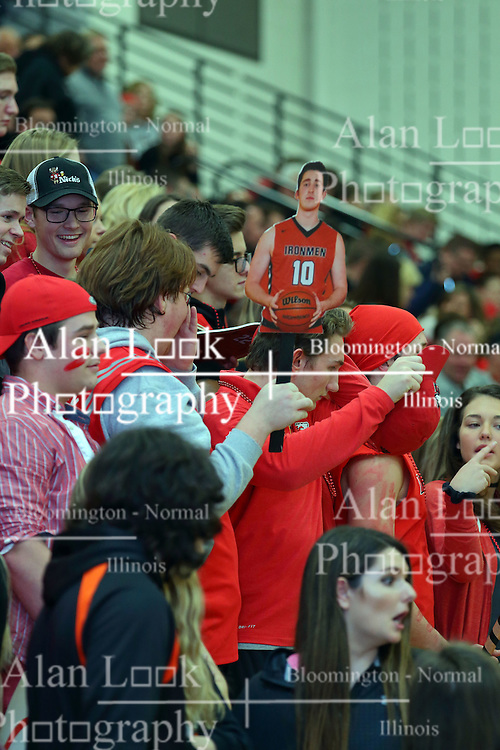 27 January 2017: IHSA Boys Basketball game between the Normal Community Ironmen and the Normal West Wildcats at Normal Illinois