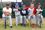 Players wait for their turn during a training session with Major League Baseball pros Boston Red Sox pitcher Mark Melancon, San Diego Padres catcher Nick Hundley and Toronto Blue Jays infielder Chris Woodward at Lloyd Elsmore Park, Auckland. Wednesday 18 January 2011. Photo: Ella Brockelsby / photosport.co.nz