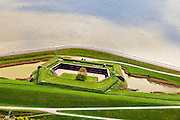 Nederland, Zeeland, Zuid-Beveland, 09-05-2013; Fort Ellewoutsdijk, gelegen aan de Westerschelde. <br /> Zak van Zuid-Beveland.<br /> Fortress situated on the Westerschelde (Western Scheldt), Southwest Holland.<br /> luchtfoto (toeslag op standard tarieven);<br /> aerial photo (additional fee required);<br /> copyright foto/photo Siebe Swart.