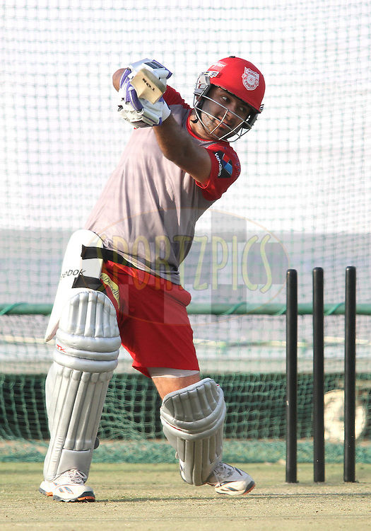 Piyush Chawla during the Kings XI Punjab training session held at the Sawai Mansingh Stadium, Jaipur, Rajasthan, India on the 5 April 2012..Photo by Shaun Roy/BCCI/SPORTZPICS..