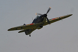 HAWKER HURRICANE FIGHTER, Battle of Britain Air Show, Duxford 24th September 2017AFC Rushden & Diamonds v Kidsgrove, FA Trophy Saturday 7th October 2017