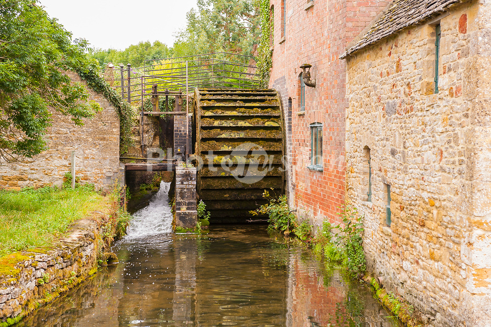 The Old Mill in Lower Slaughter , Gloucestershire , England , Britain , Uk