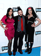 Patti Stanger, Destin Pfaff and Rachel Federoff attend the 2010 Bravo Media Upfront Party at Skylight Studios in New York City on March 10, 2010.