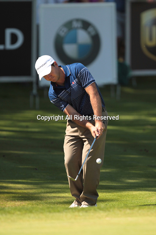 25.05.2012 Wentworth, England. Richard Sterne (RSA) in action during the BMW PGA Championship, second round.