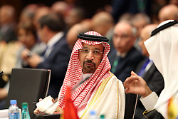 September 27, 2016 - Algiers, Algeria - The Saudi Oil Minister Khaled al-Faleh attends the 15th International Energy Forum in Algiers on September 27, 2016, on the eve of an informal OPEC meeting the next day. Saudi Arabia's energy minister said he was optimistic that OPEC oil ministers would reach a 'common view' on the international market at their meeting in Algiers on September 28. (Credit Image: © Billal Bensalem/NurPhoto via ZUMA Press)