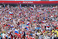 Russia supporters with flags<br /> Moscow 01-07-2018 Football FIFA World Cup Russia  2018 <br /> Spain - Russia / Spagna - Russia <br /> Foto Matteo Ciambelli/Insidefoto