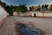 MOLINOS, CASAS DE ADOBE, VALLES CALCHAQUIES, PROV. DE SALTA, ARGENTINA