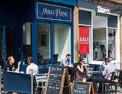 Jules Verne cafe on Leith Walk in Edinburgh, Scotland, UK