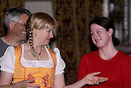 """Tamra Francis (center) during Mayhem & Mystery's production of """"Festival Fracas"""" at the Spaghetti Warehouse in downtown Dayton, Monday, September 27, 2010."""