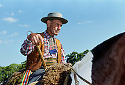 Gaucho Riding His Horse At Las Brujas Ranch, Uruguay