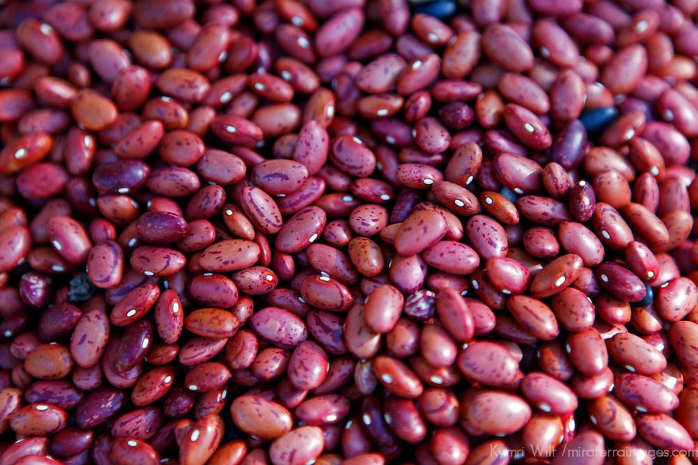 Central America, Cuba, Santa Clara. Pinto Beans for sale at a Cuban street market.