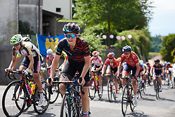 Tiffany Cromwell (AUS) climbs the final GPM during Stage 10 of 2019 Giro Rosa Iccrea, a 120 km road race from San Vito al Tagliamento to Udine, Italy on July 14, 2019. Photo by Sean Robinson/velofocus.com