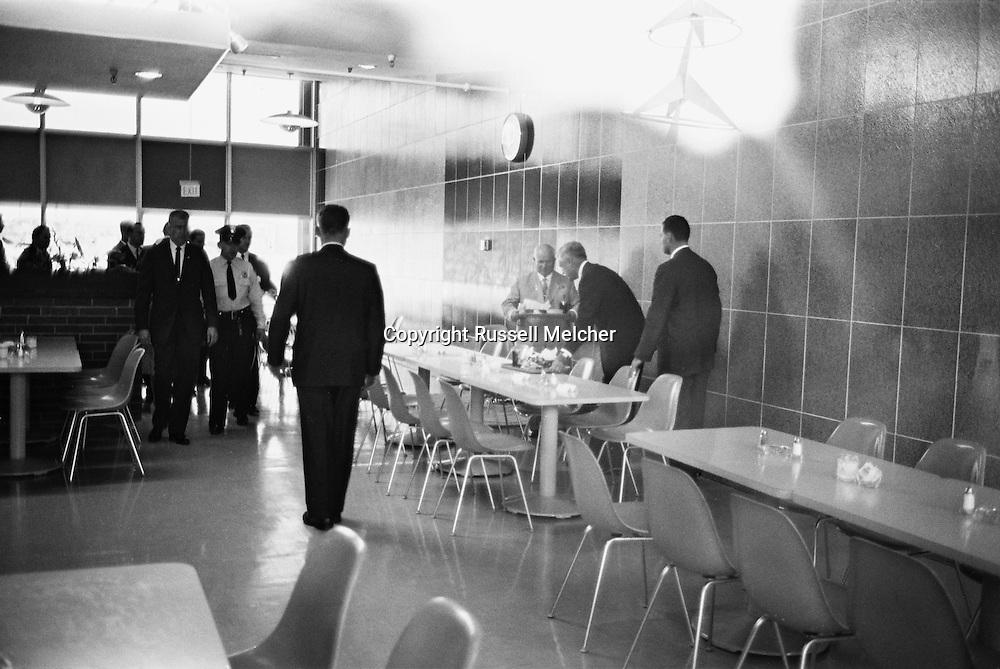 1959 Nikita Khrushchev in IBM's headquarters in California.<br /> <br /> 1959 Nikita Khrouchtchev au si&egrave;ge d'IBM en Californie .