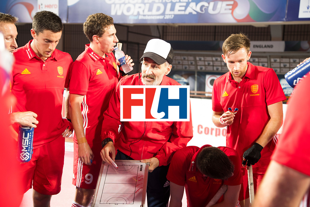 BHUBANESWAR - The Odisha Men's Hockey World League Final . Match ID 06 . India v England. Russell Garcia (Eng)   .    WORLDSPORTPICS COPYRIGHT  KOEN SUYK