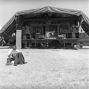 Wango's stage, at Glastonbury, 1989.