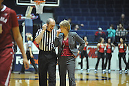 """Ole Miss vs. Alabama coach Kristy Curry at the C.M. """"Tad"""" Smith Coliseum in Oxford, Miss. on Sunday, January 11, 2015. (AP Photo/Oxford Eagle, Bruce Newman)"""