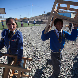 School children in Santa Filomena, Ayacucho