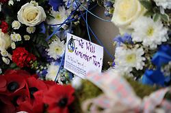 Bristol Rovers 'We will remember them' - Photo mandatory by-line: Dougie Allward/JMP - Mobile: 07966 386802 - 11/11/2014 - SPORT - Bristol - Memorial Stadium - Remembrance Service